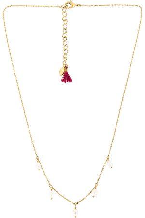 Shashi Women Bracelets - Pearl Drop Necklace in Metallic .