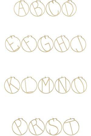 Retrofete Women Hoop - Hoop Alphabet Earring in Metallic .