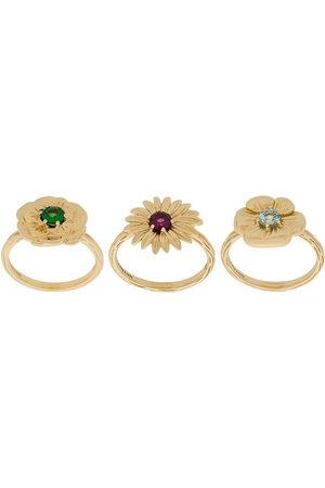 Aurélie Bidermann 18kt yellow Bouquet set of rings - Metallic