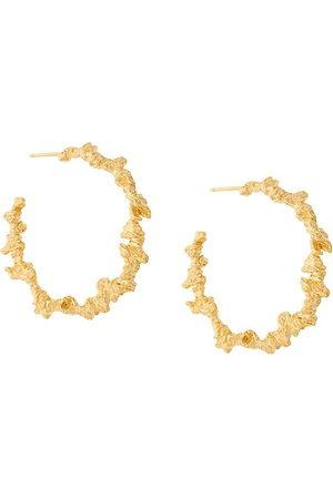 NIZA HUANG Women Earrings - Large irregular hoop earrings - Metallic