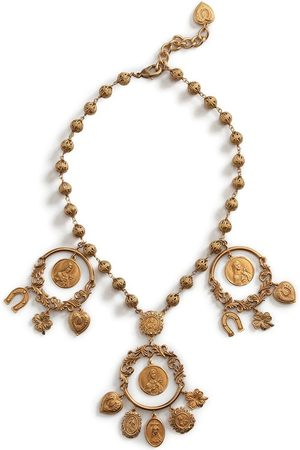 Dolce & Gabbana Women Necklaces - Multi-charm beaded necklace