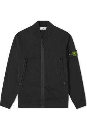 Stone Island Garment Dyed Bomber Jersey Jacket