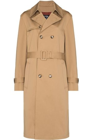 HOMMEGIRLS Women Trench Coats - Double-breasted trench coat - Neutrals