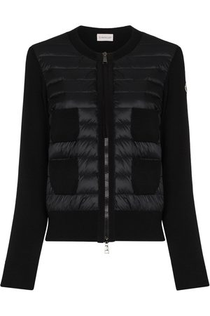 Moncler Women Cardigans - Padded-panel knitted cardigan