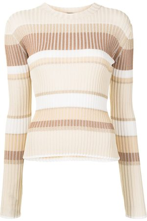 Proenza Schouler Stripe-pattern ribbed-knit top