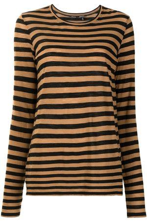 Proenza Schouler Long-sleeved striped T-shirt - LIGHTKHAKI