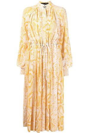Proenza Schouler Women Printed Dresses - Snake-print drawstring-waist dress