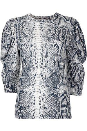 Proenza Schouler Women Tops - Snakeskin-print puff-sleeve top