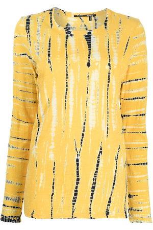 Proenza Schouler Women Long Sleeve - Tie-dye long-sleeved T-shirt