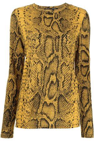 Proenza Schouler Snakeskin-print long-sleeved T-shirt