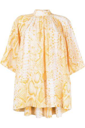 Proenza Schouler Women Blouses - Snakeskin-print flared blouse