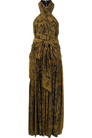 Proenza Schouler Snakeprint cross-front dress