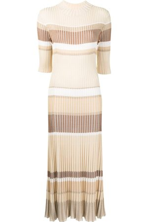 Proenza Schouler Women Knitted Dresses - Ribbed-knit striped dress