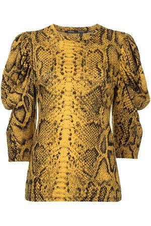 Proenza Schouler Snakeskin-print puff-sleeve top