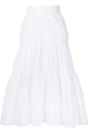 Proenza Schouler Women Midi Skirts - Tiered mid-length skirt