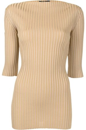 Proenza Schouler Ribbed-knit straight-neck top
