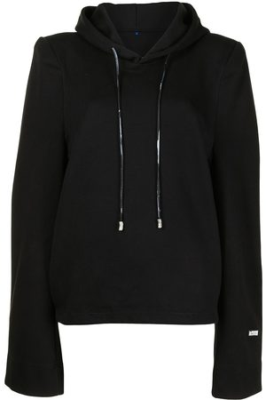 Ader Error Women Hoodies - Puff-sleeve cotton-blend hoodie