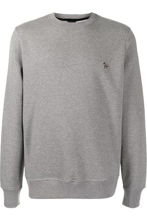 Paul Smith Logo embroidered cotton sweatshirt - Grey