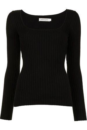 Anna Quan Women Tops - U-neck knitted top