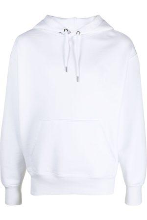Ami Men Hoodies - Embroidered-logo drawstring hoodie