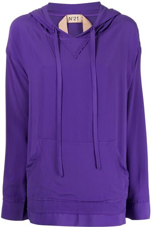 Nº21 Drop-shoulder long-sleeved hoodie