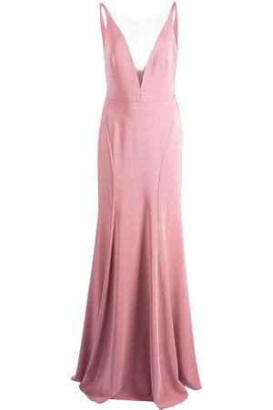 Marchesa Notte Women Evening dresses - Crema plunging V-neck dress