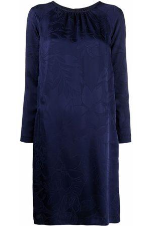 TALBOT RUNHOF Tonal floral-print dress