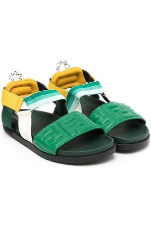 Fendi Stripe-detail strappy sandals