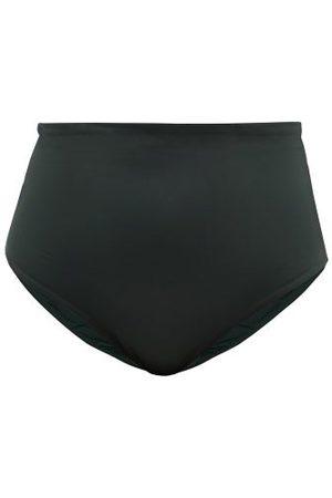 Form and Fold Women Bikinis - The Rise High-rise Bikini Briefs - Womens - Dark