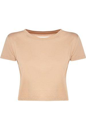 MM6 MAISON MARGIELA Women T-shirts - Cotton Jersey Crop T-shirt