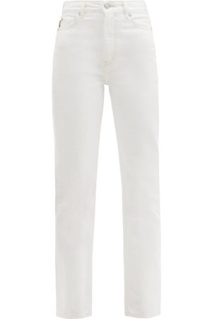 Ganni High-rise Straight-leg Jeans - Womens