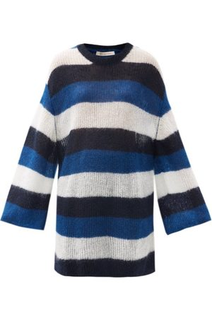 Christopher Kane Women Sweaters - Striped Oversized Mohair-blend Sweater - Womens - Multi