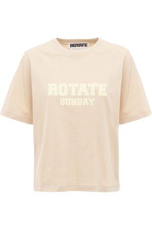 ROTATE Women T-shirts - Aster Sunday Capsule Logo Jersey T-shirt