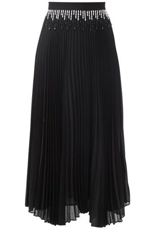 Christopher Kane Beaded Pleated-chiffon Skirt - Womens
