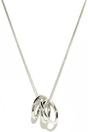 COMPLETEDWORKS Flow Platinum-plated Sterling- Necklace - Mens