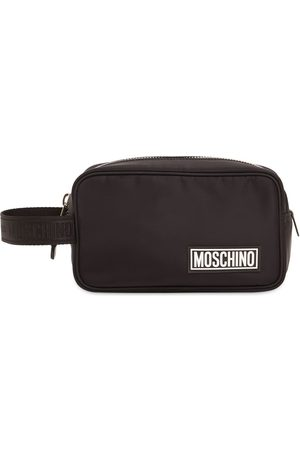 Moschino Logo Rubber Label Toiletry Bag