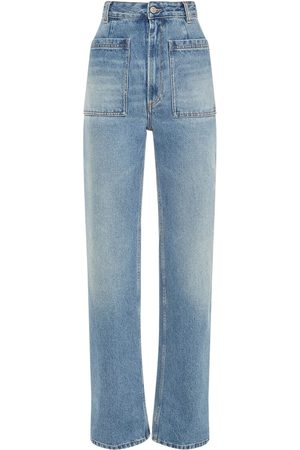 MM6 MAISON MARGIELA Women High Waisted - High Waist Cotton Denim Straight Jeans