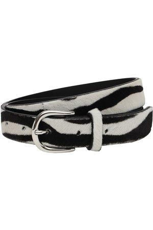 Isabel Marant Women Belts - 4cm Zap Zebra Print Leather Belt