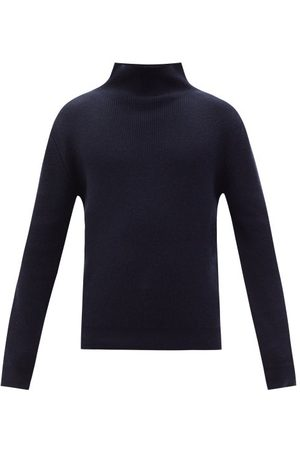 The Row Daniel Stand-neck Ribbed-cashmere Sweater - Mens - Dark Navy