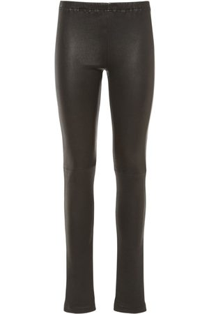 MM6 MAISON MARGIELA Women Leggings - Stretch Faux Leather Coated Leggings