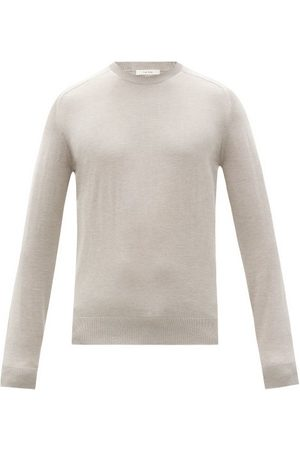 The Row Scott Silk-blend Sweater - Mens - Grey