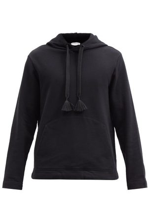 5 MONCLER CRAIG GREEN Tasselled Cotton-jersey Hooded Sweatshirt - Mens