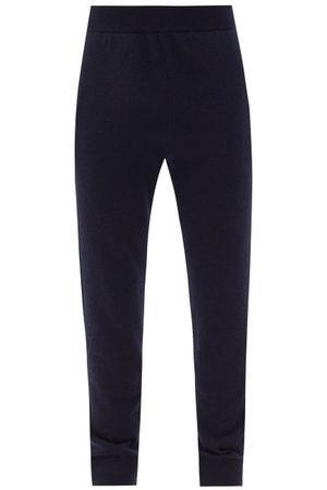 The Row Men Sweatpants - Oliver Cashmere Track Pants - Mens - Dark Navy