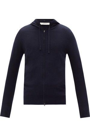 The Row Harry Hooded Cashmere Track Jacket - Mens - Dark Navy