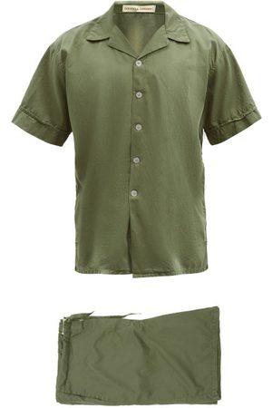 Cleverly Laundry Superfine-cotton Sateen Pyjama Set - Mens