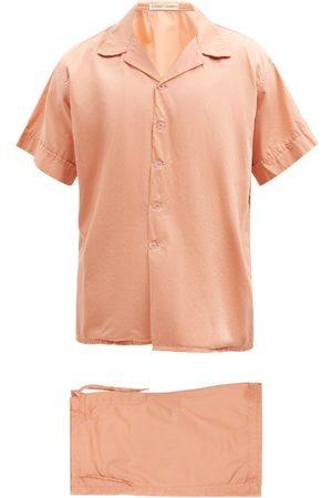 Cleverly Laundry Men Pajamas - Superfine-cotton Sateen Pyjama Set - Mens