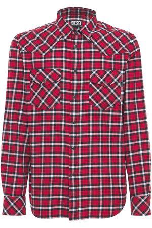 Diesel Organic Check Cotton Flannel Shirt