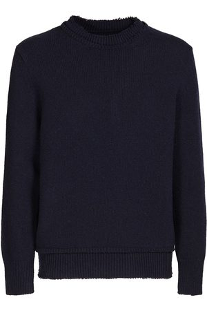 Maison Margiela Men Sweaters - Crewneck Wool Knit Sweater