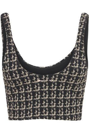 The Upside Women Crop Tops - Bouclé Jacquard Crop Top