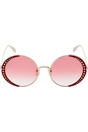 Alexander McQueen Women Round - Round Metal Sunglasses W/ Studs